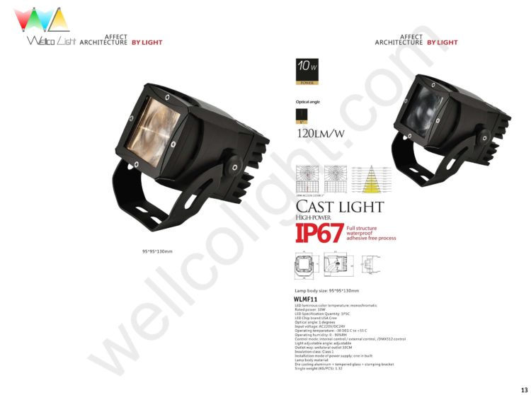 LED flood light wlmf11