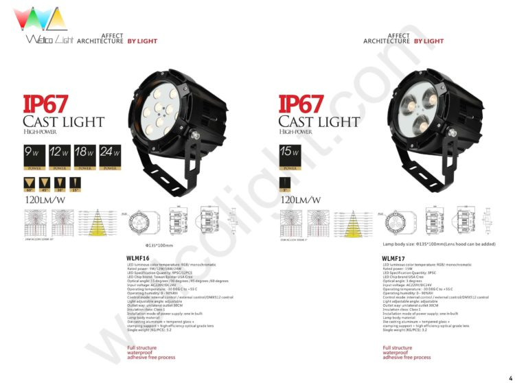 LED flood light wlmf16 / wlmf17