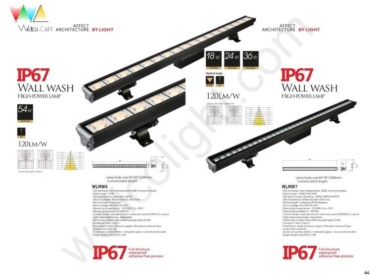 LED wall wash light wlmw6 / wlmw7
