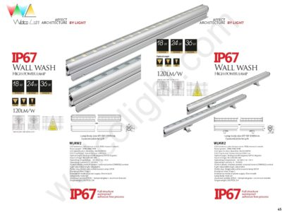 LED wall wash light wlmw2 / wlmw2