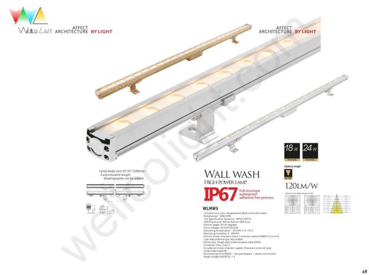 LED wall wash light wlmw5