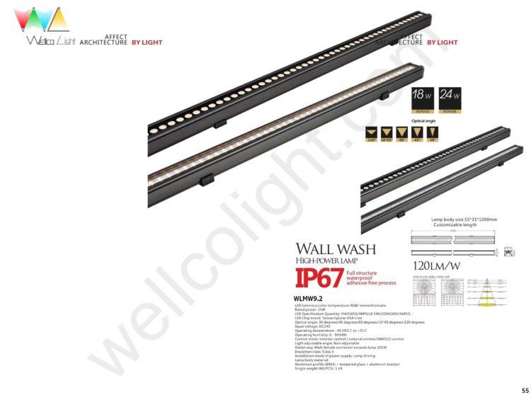 LED wall wash light wlmw9.2