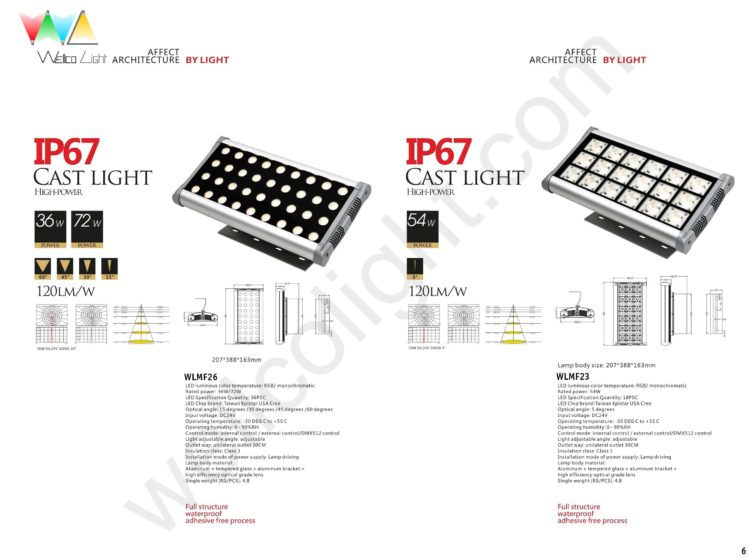 LED flood light wlmf26 / wlmf23