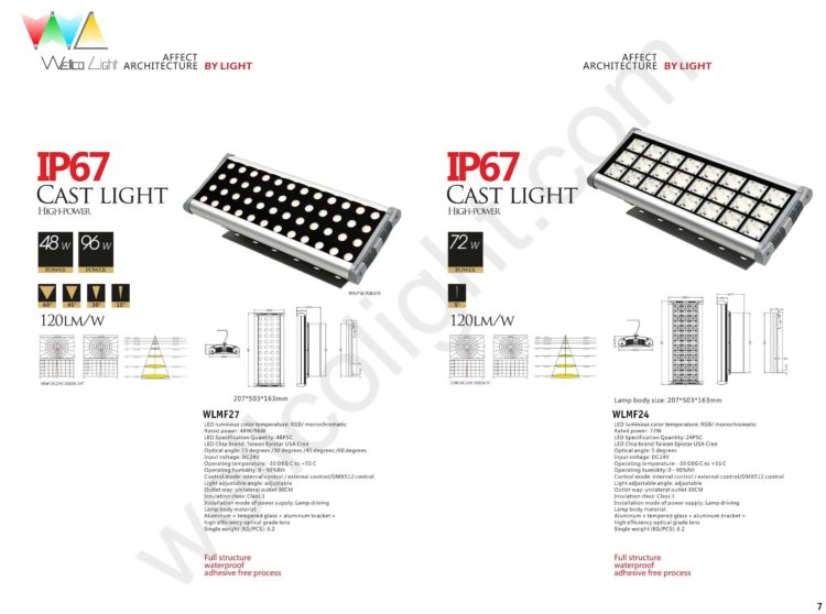 LED flood light wlmf27 / wlmf24